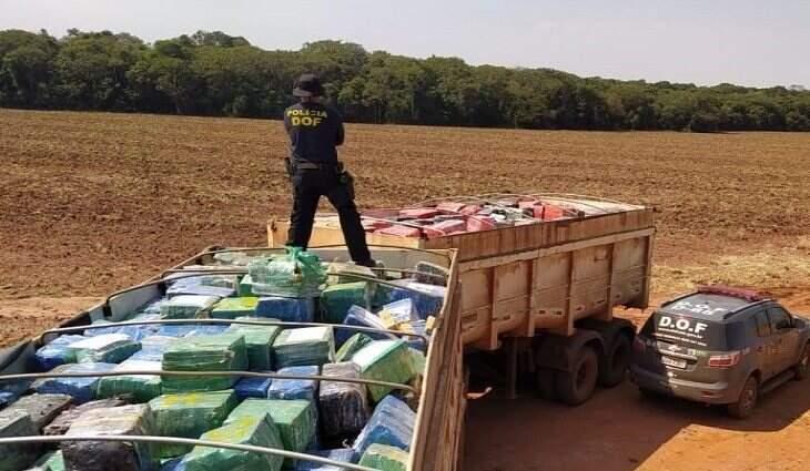 DOF tirou de circulação uma carga de 33,3 toneladas de maconha