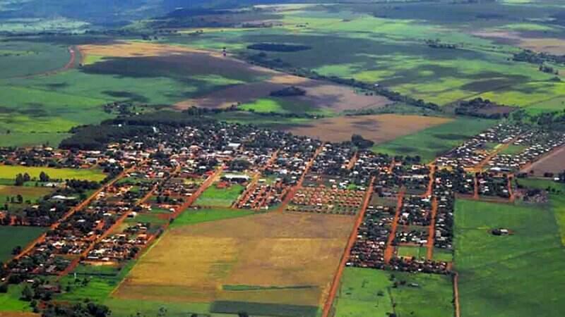 Vista aérea do município de Aral Moreira