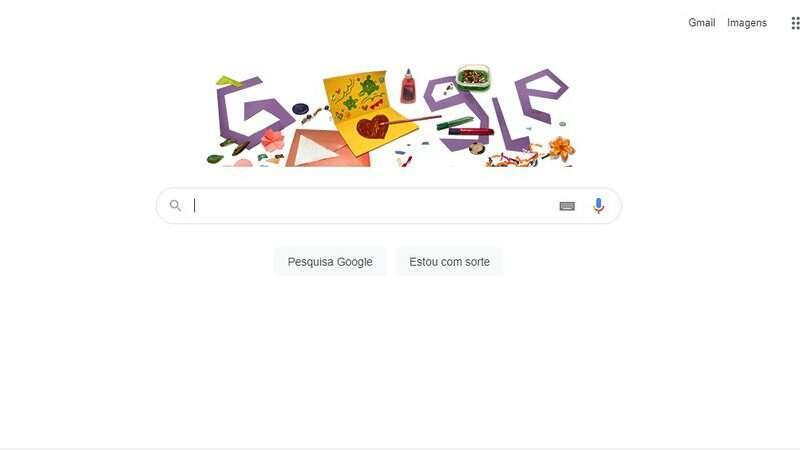 Ação comemorativa do Google