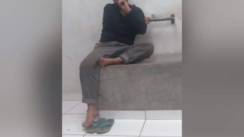 Morador de rua, o autor recebeu voz de prisão