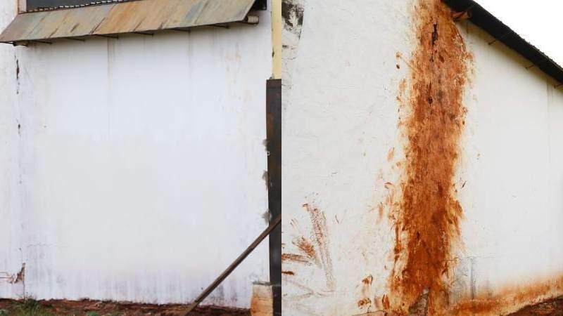 Após denúncias de 'escapadas', marcas de pés são pintadas em muro de presídio em Campo Grande