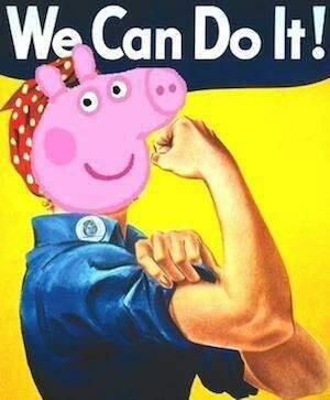 Peppa é feminista! (Foto: Reprodução)