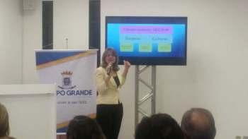 A secretária Nilde Brum durante apresentação do Observatório (Jessica Benitez/Midiamax)