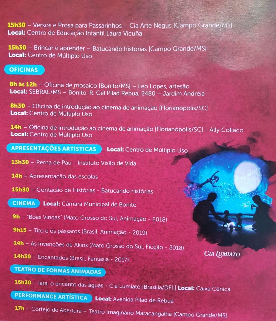FCMS lança o 20º Festival de Inverno de Bonito com presença de artistas e autoridades