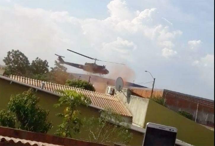VÍDEO: megaoperação com helicóptero cumpre mandados em MS
