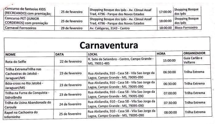 Carnaval 2020 contará com 48 eventos e retorno de clássico de Campo Grande