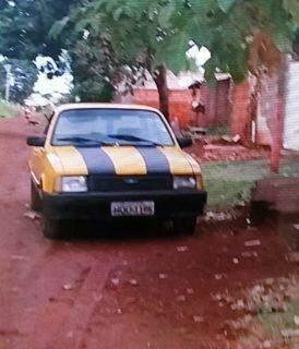 Carro usado pelo autor para fugir (Foto: Divulgação)