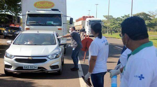 coronavírus, novo coronavírus, pandemia de Covid-19, barreiras sanitárias, Mato Grosso do Sul, feriadão do Dia do Trabalhador, 54 mil pessoas