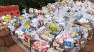 Cufa-MS, entrega de cestas básicas, moradores do Bom Retiro, Danúbio Azul