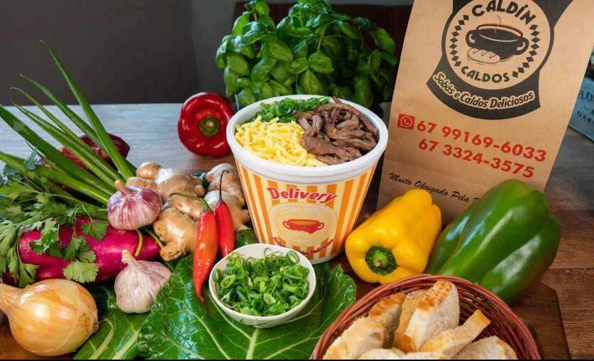 Peça Delivery! Caldin Caldos tem 15 tipos de Caldos, Sobá, Yakisoba e outras delícias