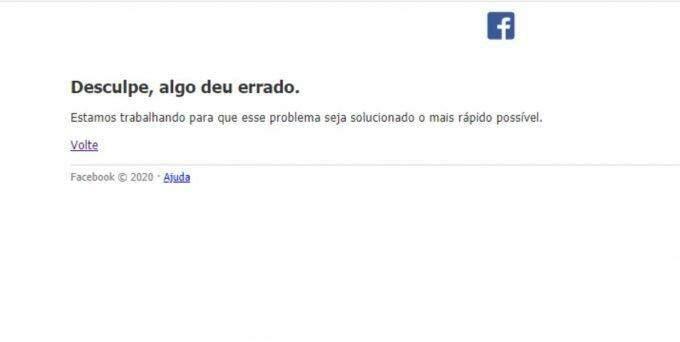 Facebook apresenta instabilidade no inbox e gerenciamento de páginas