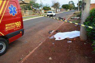 VÍDEO: Motociclista morre após colidir contra poste em bairro de Campo Grande