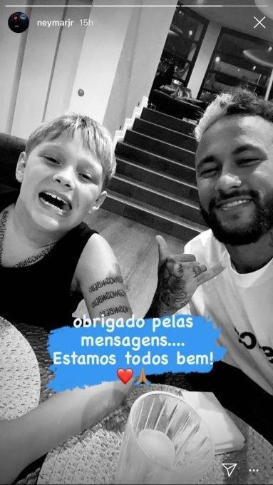 Filho de Neymar também está com coronavírus e jogador tranquiliza fãs