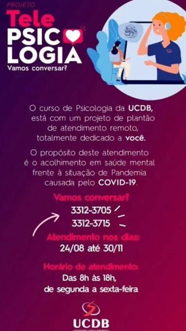Projeto Telepsicologia promove atendimento psicológico gratuito a distância