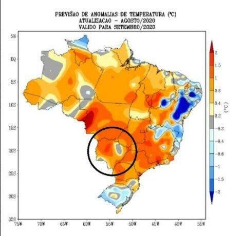 Chuva de novo em MS só no início da primavera, segundo previsão da meteorologia