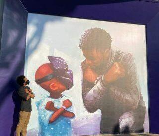 Disney inaugura mural com homenagem à Chadwick Boseman