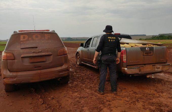 Com perseguição, DOF apreende mais de 1 tonelada de maconha e recupera camionete furtada