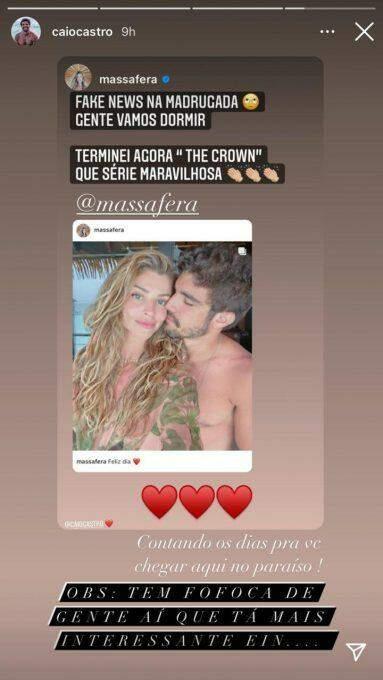 Após rumores, Grazi Massafera nega término com Caio Castro