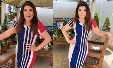 Mara Maravilha é acusada de retocar cintura em foto